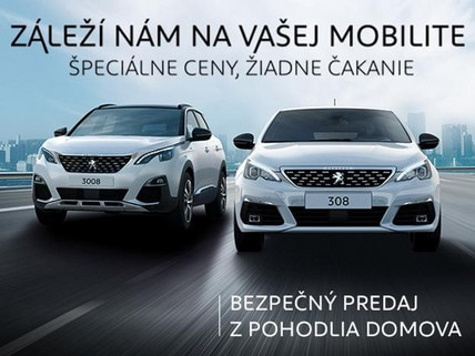 skladove vozidla Peugeot online predaj