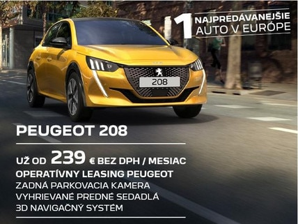 Peugeot 208 B2B_najpredavanejsie auto Europy