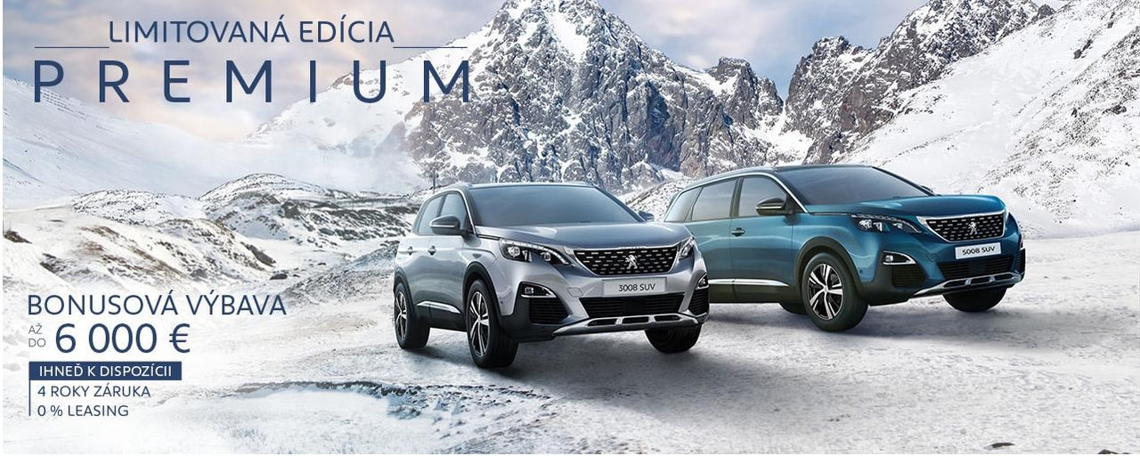 Peugeot SUV limitovana edicia Premium jan 2020