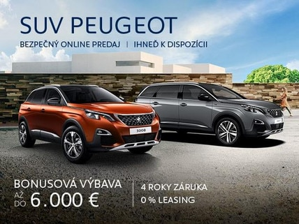SUV Peugeot skladove online