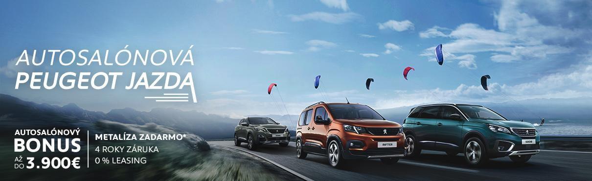 Autosalonove promo Peugeot header