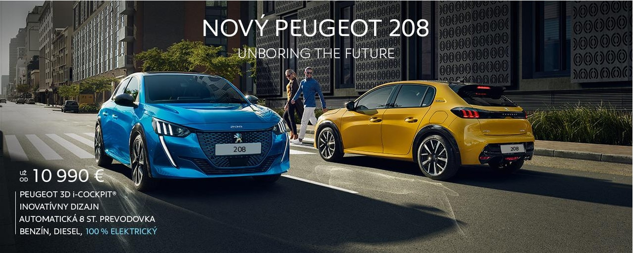 Novy Peugeot 208 web